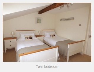 Avocet Cottage Twin Bedroom